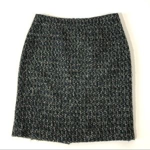 J. Crew Factory Green Boucle The Pencil Skirt
